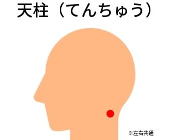 頭皮のツボ:天柱(てんちゅう)